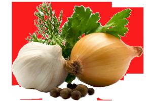 Чесън, лук и зелени подправки за здраве