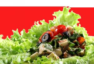 Салата от пресни зеленчуци