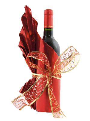 Опаковка на вино за Коледа
