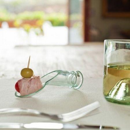Бутилка за вино 3 в 1 - чаша, лъжица и фенер