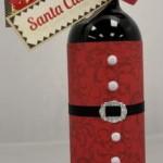 Коледна бутилка вино с етикет Дядо Коледа