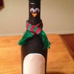 Бутилка за вино за Коледа - пингвин
