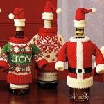 Коледни дрешки за бутилки вино