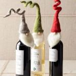 Бяло и червено вино с шапка джудже