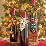 Коледно облекло за вино с играчкиКоледно облекло за вино