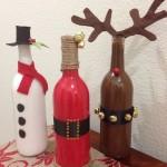 Коледен дрескод за бутилки вино