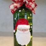 Коледен дрескод - украсена бутилка за вино