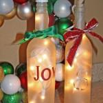 Светеща бутилка за декорация за Коледа